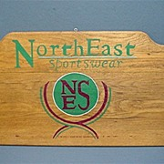 SALE Wood Outdoor Advertising Sign for NorthEast Sportswear