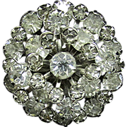 REDUCED Rhinestone Pin or Brooch Domed with Tiers of Stones 130 Pieces Of Jewelry to Choose Fr