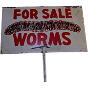 SALE WORMS For Sale Double Sided Camp Ground Advertising Sign