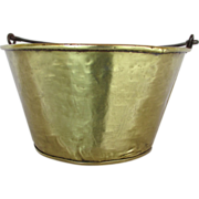 SALE Brass Kettle or Pot Hand Hammered Circa 1870