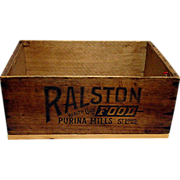 SALE RALSTON Health Club Foods Wood Advertising Box