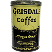 SALE Gridsale Coffee Advertising Tin