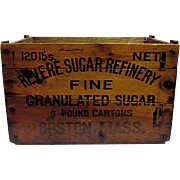 SOLD Revere Sugar Refinery Wood Advertising Box