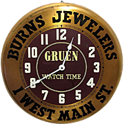 REDUCED Gruen Watch Advertising Wall Clock