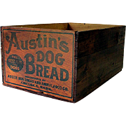 SALE Austin Dog Bread Wood Advertising Box