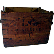 SALE L-C Cough Crops Early Wood Advertising Box
