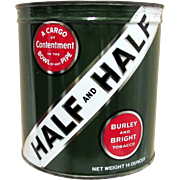 SALE Half and Half Unopened Tobacco Advertising Tin