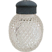 SALE Raised Diamonds Pattern American Glass Shaker