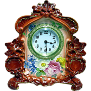 SALE Royal Bonn Porcelain Clock by Ansonia