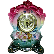 SALE Ansonia Royal Bonn Porcelain Clock