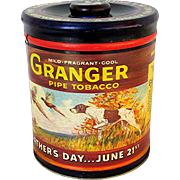 SALE Granger Tobacco Humidor Tin Fathers Day Special Advertising Tin