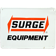 SALE Surge Equipment Metal Advertising Sign