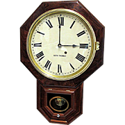 SALE Antique Rosewood Seth Thomas Wall Clock