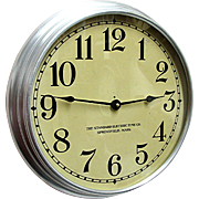 SALE Round Standard Electric Industrial Wall Clock