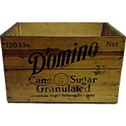 SALE Domino Cane Sugar Wood Advertising Box