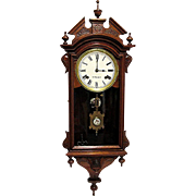 REDUCED E. N. Welch Chiming Wall Clock