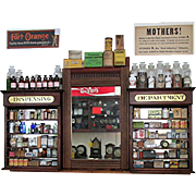 SALE Apothecary Wall Hanging Drugstore or Pharmacy Retail Display