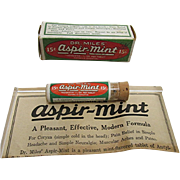 SALE Dr. Miles Aspir Mint Original Box, Pamphlet &  Contents in Glass Vial