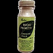SALE Penslar Buchu Palmentto  Drug Store or Pharmacy Advertising Bottle