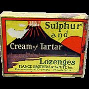 SALE Hance Bros. Lozenges Original Box and Contents Drugstore Item