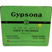 SALE Pharmacy Advertising Tin Gypsona Plaster of Paris Bandage