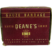 SALE Deane's Gauze Bandage Original Box and Contents