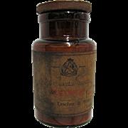 SALE Amber Glass Pharmacy Bottle Evans Sons Lescher & Webb Ltd. Liverpool London
