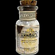 SALE Ammonol Chemical Co. NY Drugstore or Pharmacy Bottle