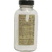 SALE Medicine Bottle Carmacin  Physicians Specimen Burroughs Wellcome & Co.