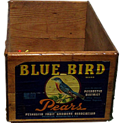 SALE Blue Bird Wood Advertising Box