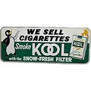 SALE Large Kool Cigarette Advertising Sign