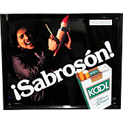 SALE Latino Kool Cigarette Advertising Sign
