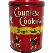 SALE Countess Cookies Advertising Tin New York 1932