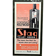 SALE Rexall Advertising Sign Art Deco for Stag Hair Tonic