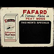 SALE Fafard Chalkboard Spaghum Moss Advertising Sign