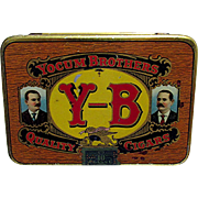 SALE Yocum Brothers Pocket Cigar Advertising Tin