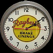 SALE Automotive Advertising Clock for Raybestos Brake Linings of Bridgeport Connecticut