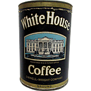 SALE White House Coffee Advertising Tin