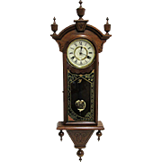 SALE American Chiming Antique Wall Clock