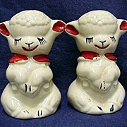 REDUCED Shaker Set Large Lamb Salt and Pepper  by American Pottery Co.