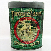 SALE Troutline Tobacco Advertising Tin 50% OFF