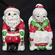 SALE Christmas Salt and Pepper Santa and Mrs. Claus in Rockers