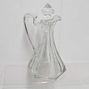 REDUCED Cruet American Glass