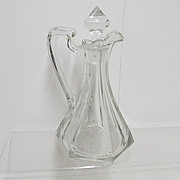 REDUCED Cruet American Glass
