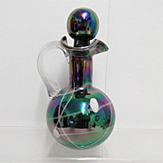 REDUCED Cruet Iridescent Art Glass