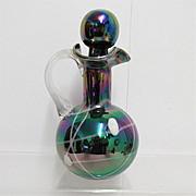 REDUCED Cruet Iridescent Art Glass