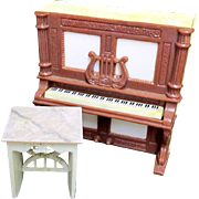 SALE Upright Piano Mechanical Salt and Pepper Piano and Bench  Set