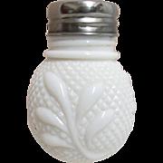 SALE EAPG Diamond Point and Leaf Pattern Single Shaker