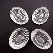 REDUCED Salt Cellars Four Bohemia Glass