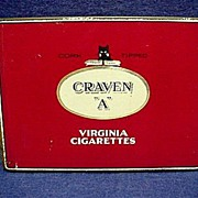 SALE Craven A Virginia Cigarette Pocket Advertising Tobacco Tin